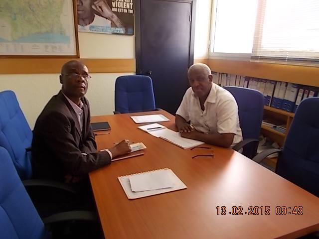 Séance de travail avec le chef de la division des droits de l'homme de l'ONUCI