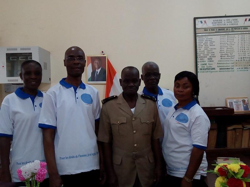 Visite au Sous-préfet de Guibéroua